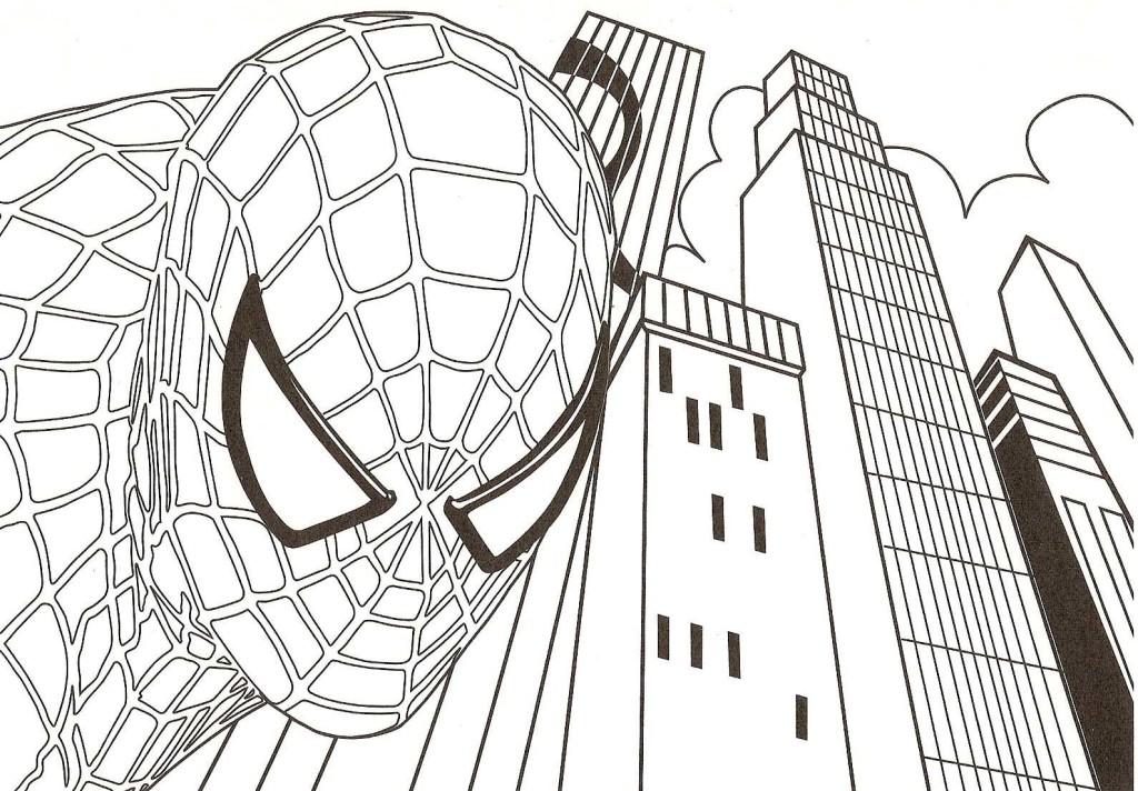 10 Mewarnai Gambar Spiderman Pemandangan Kartun Masjid Mobil Tokoh Naruto