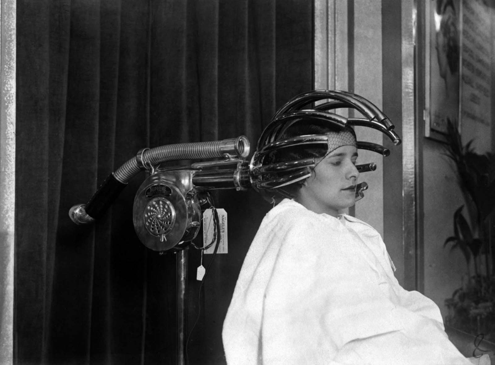 In 1890 the first hairdryer was invented by French stylist Alexander Godefroy.