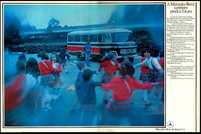 propaganda ônibus Mercedes-Benz - 1976.  reclame de carros anos 70. brazilian advertising cars in the 70. os anos 70. história da década de 70; Brazil in the 70s; propaganda carros anos 70; Oswaldo Hernandez;