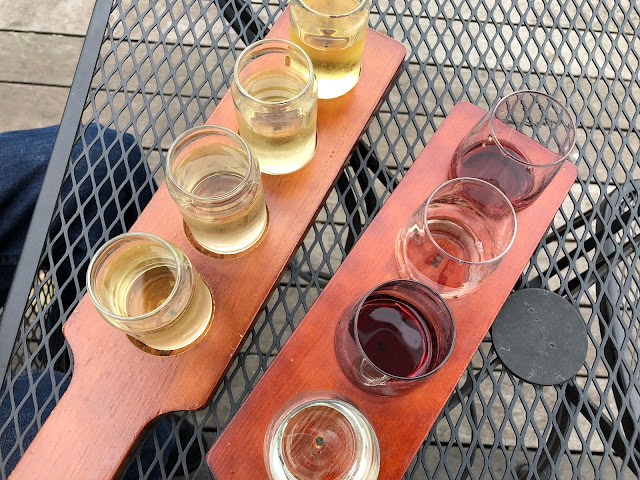 Cider and Wine flights at Hauser Estates Winery in Adams County Pennsylvania