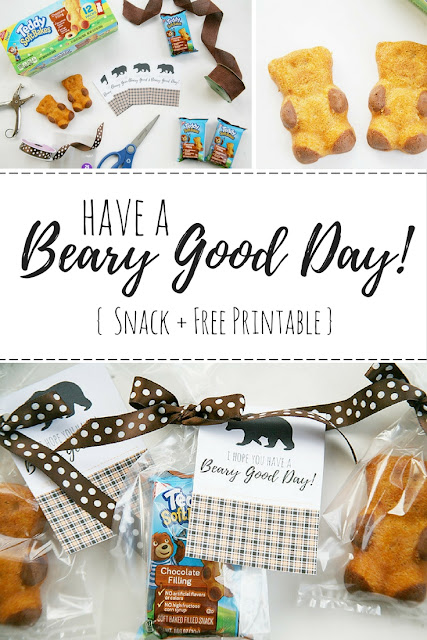 Yummy Teddy Soft Bakes filled snacks make for the perfect on the go snack for kids. Share the fun with this fun Beary Good Day printable and snack idea! #WalmartSnacks2Go #IC #ad