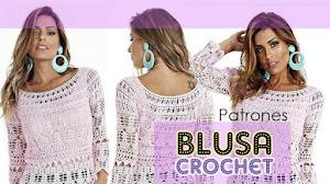 Patrones de blusa calada crochet  😍 👚