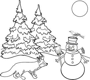 malvorlagen zum ausmalen: winter malvorlagen zum ausmalen