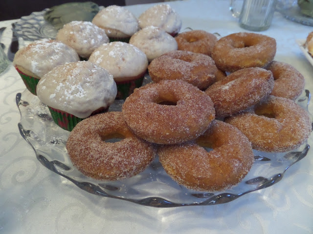 cinnamon sugar donut and muffins