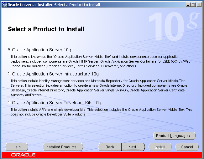 itec  oracle application server 10g