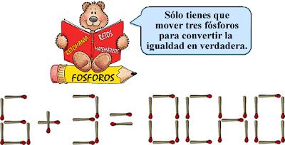 Reto Matematico, Jugando con Fósforos, Cerillas