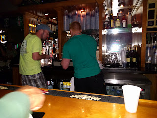 busy bartenders at Mickey Quinn's on St Patrick's night