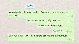Font styles in whatsapp