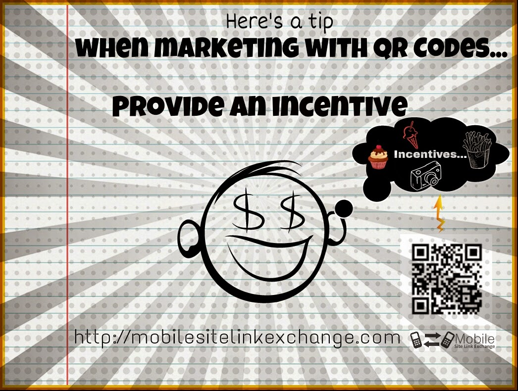 Photo of QR code marketing incentives