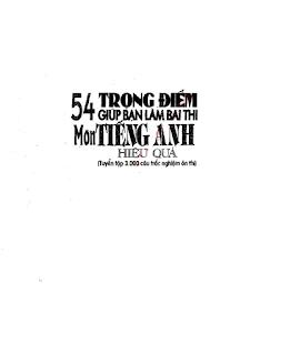 Những Câu Hỏi Trắc Nghiệm Ôn Thi THPT Môn Tiếng Anh- PDF