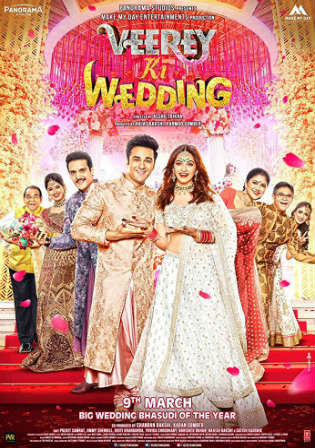 Veerey Ki Wedding 2018 Pre DVDRip 350MB Full Hindi Movie Download 480p Watch Online Free bolly4u