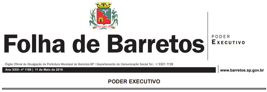 PREFEITURA DE BARRETOS-SP - ORDEM DE SERVIÇO N.º 028-2018 - Horário especial nos jogos da Seleção Brasileira na Copa do Mundo de 2018