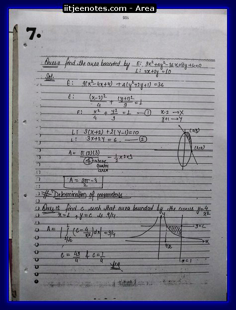 area under curve notes