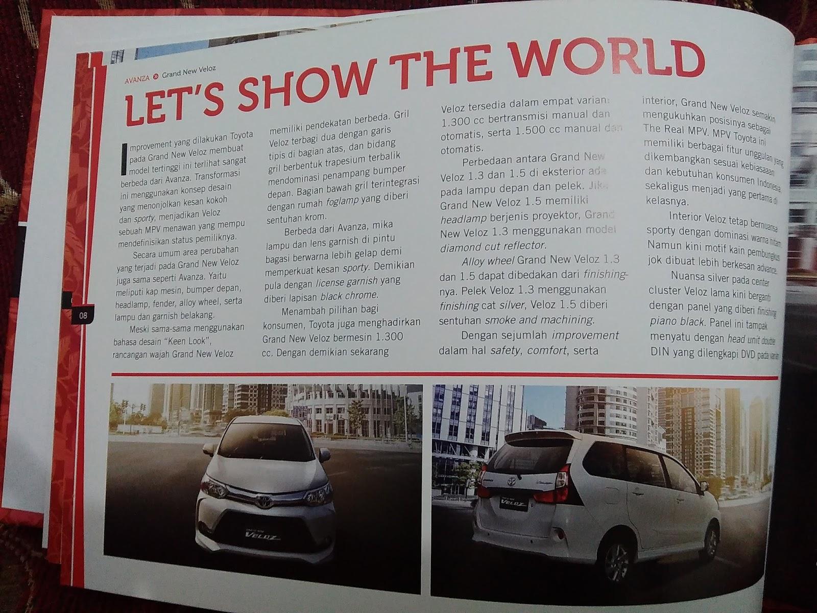 Katalog Grand New Avanza Stop Lamp Led Veloz Kornelius Ginting Terpesona Dengan Penampilan Toyota