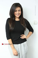 Telugu Actress Mishti Chakraborty Latest Pos in Black Top at Smile Pictures Production No 1 Movie Opening  0055.JPG