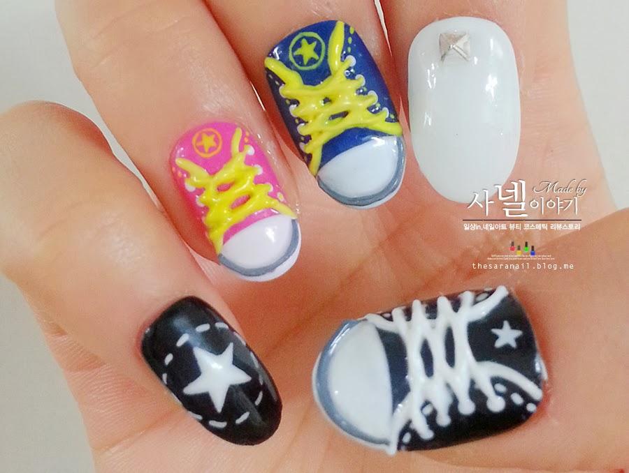 7c1655aa4b28 SARA NAIL   Saranail  Real Converse Nail  Sneakers nail  Shoes shape ...