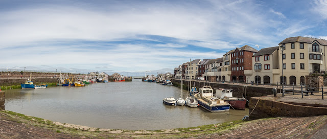 Photo of a panoramic view of Maryport Harbour