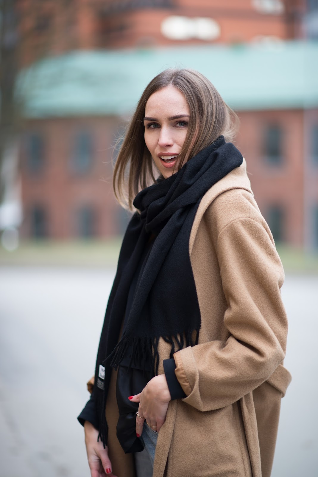 black acne studios scarf outfit