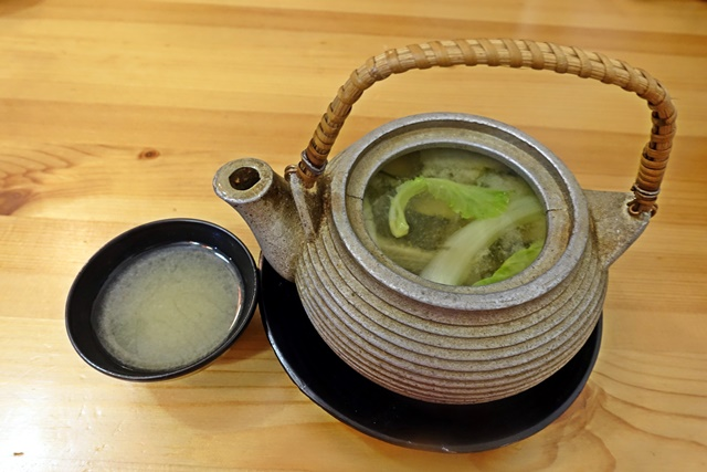 土瓶蒸味噌湯
