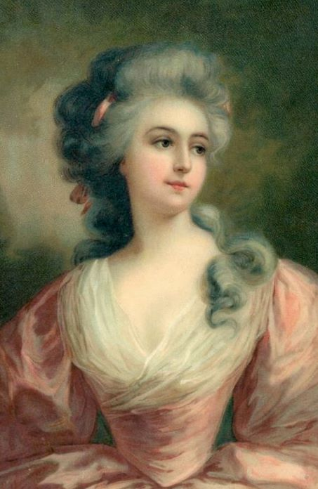 bumble button r tic french and english paintings of women of  the large powdered hair arrangements seem very french and be contemporaries of marie antoinette the top two are my favorites
