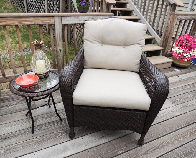 backyard patio refresh with big lots