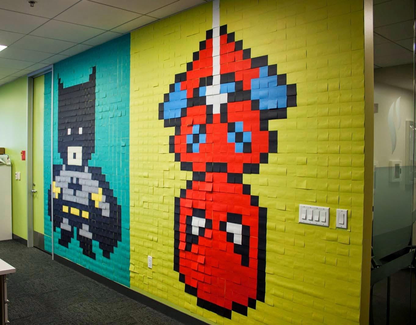 Superman Wall Murals Bruck7 Creates Quot Pixel Superheroes Quot A New Indoor