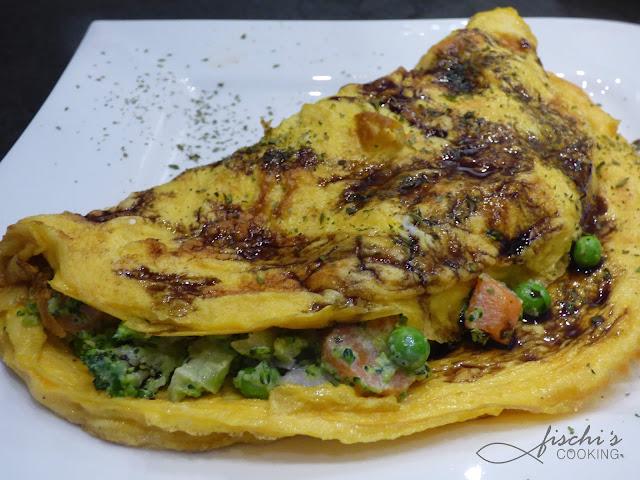fischiscooking, steirisches omlette, kürbiskernöl