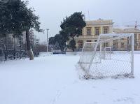 Χιονισμένο το γήπεδο της ακαδημίας