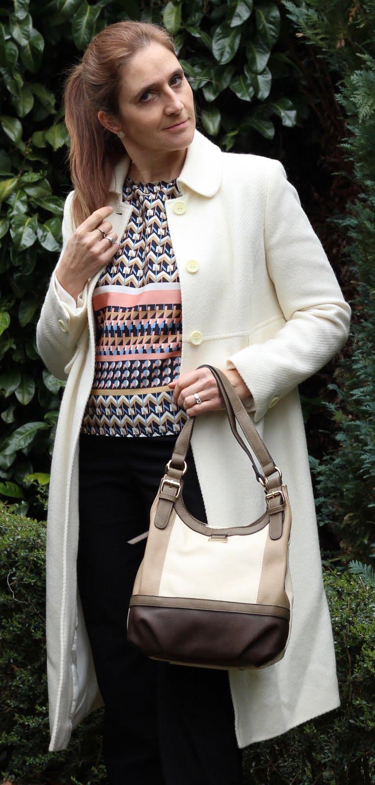 Fashion Friday again - ein wenig rose und musterhaft schick in den Frühling! Mantel von Bellybutton