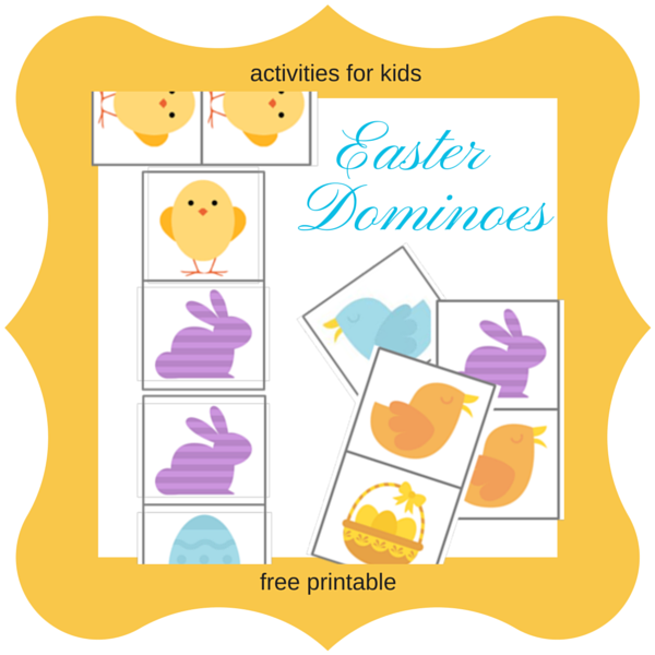Easter Dominoes - free printable
