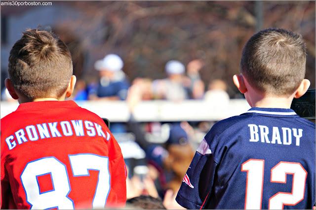 Camisetas durante el Desfile de los Patriots por la Celebración de la Super Bowl LIII