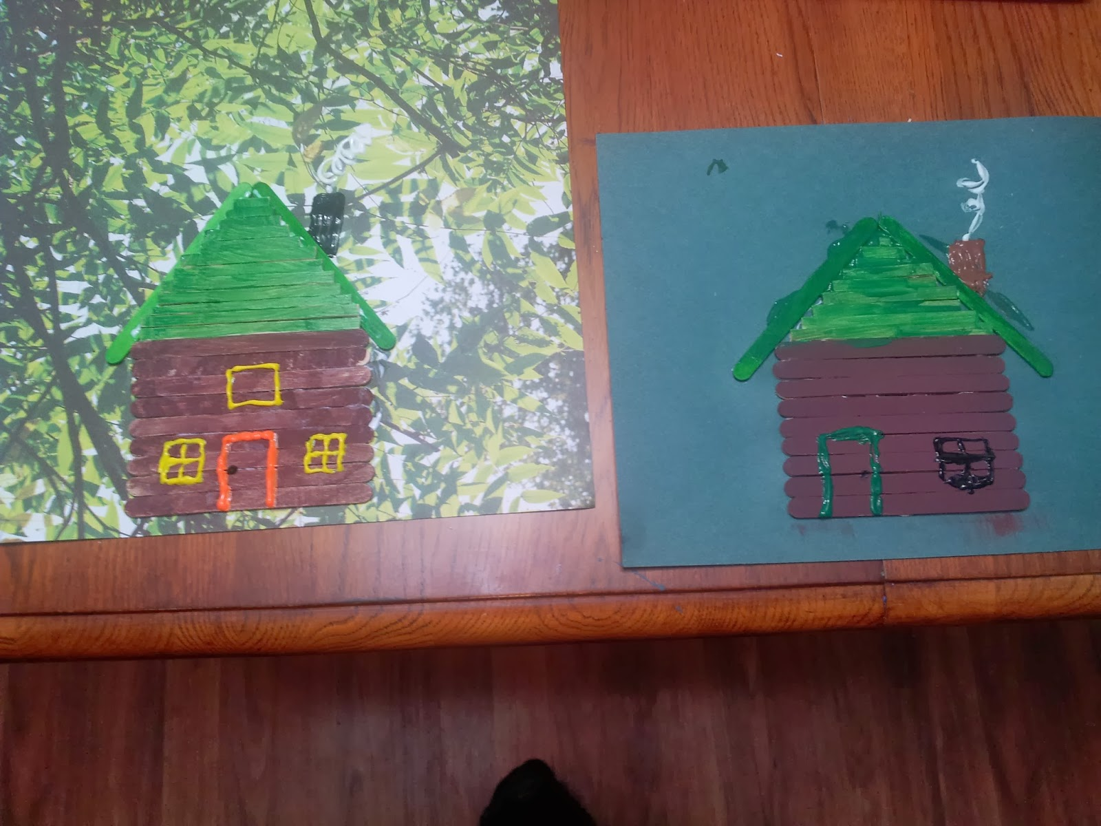 Working Mom Wonders Log Cabin Craft