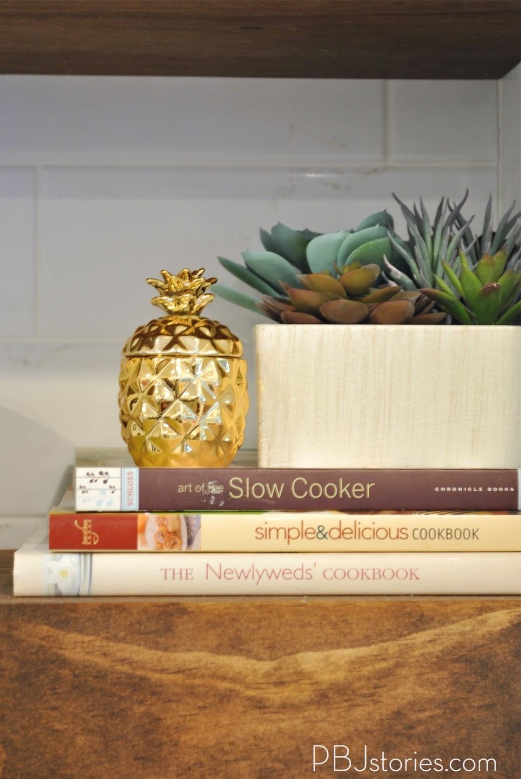 Wood Grain Shelves Kitchen Cabinet