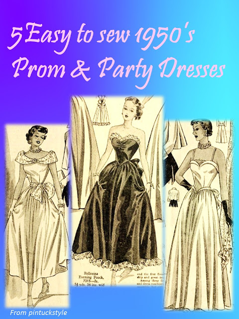 how to sew 1950s prom dress or party dress or 1940s dress