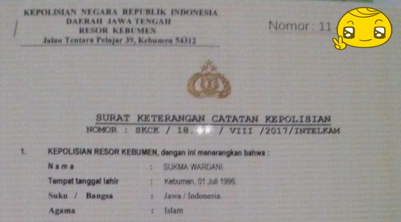 DearestSukma: Membuat Surat Keterangan Catatan Kepolisian