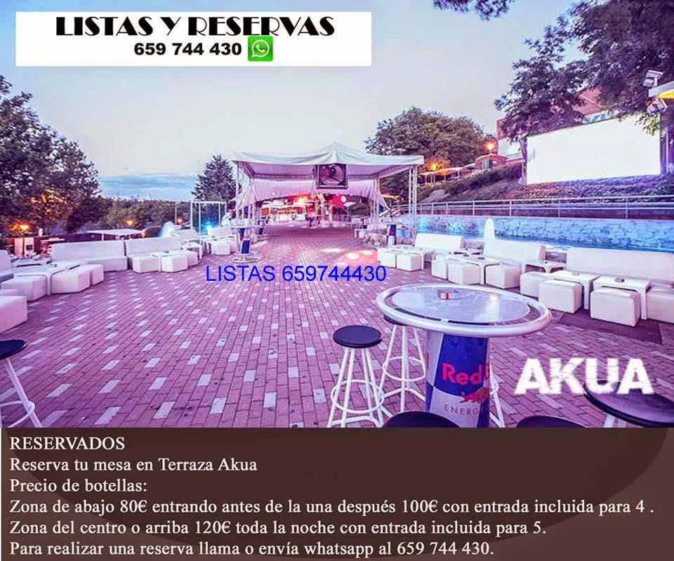 Rr Pp Discoteca Terraza Akua Madrid Lista Gratis Terraza
