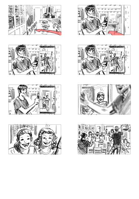 #shootingboard #storyboard #commercial #vodafone #muccino