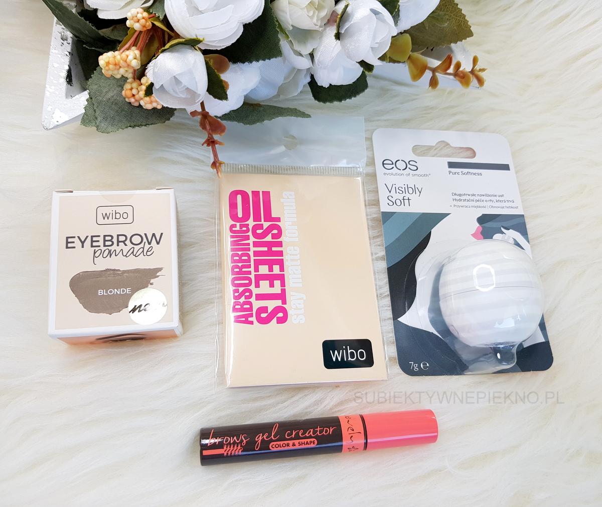 Co kupiłam na promocji w Rossmannie -55% na kosmetyki do makijażu kwiecień 2018 - Wibo, Lovely, EOS