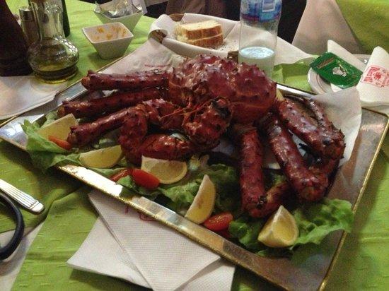 Centolla do Restaurante Tia Elvira em Ushuaia