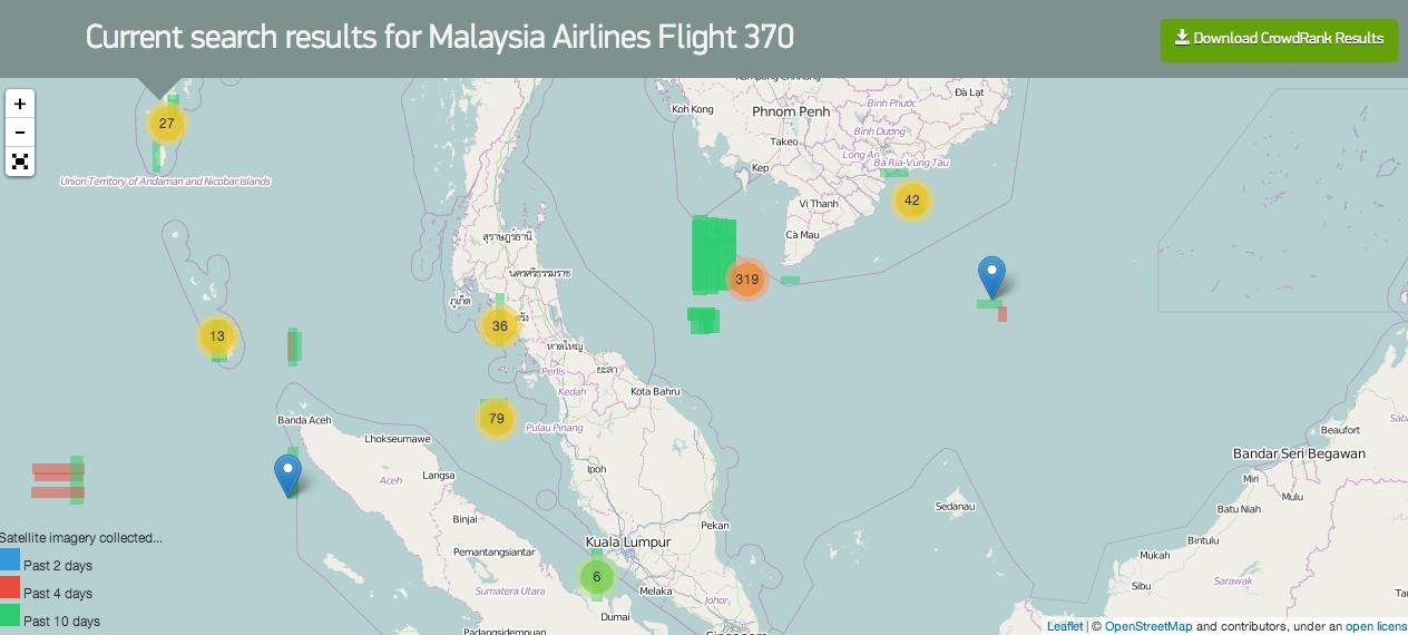 Crowdsourcing para buscar el avión desaparecido
