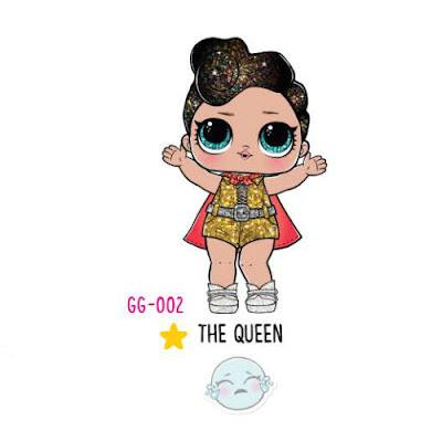Как выглядит куколка ЛОЛ Сюрприз глиттер The Queen