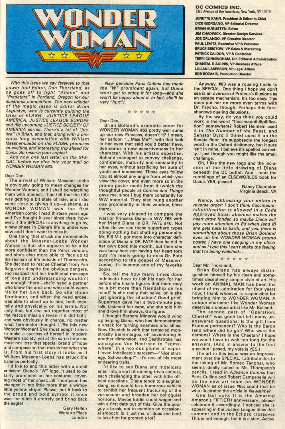 Read online Wonder Woman (1987) comic -  Issue #66 - 24