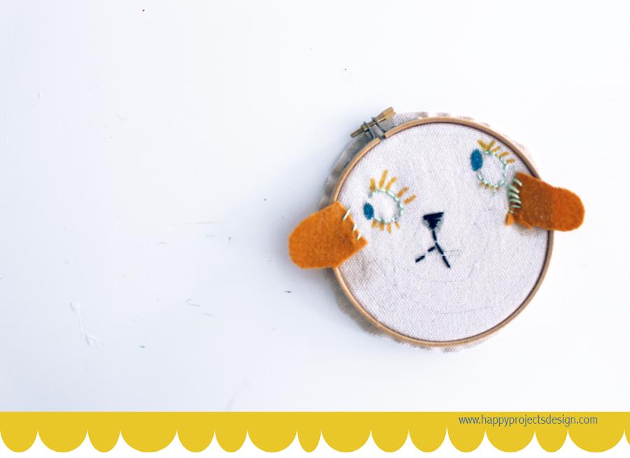coser con niños diy bastidor