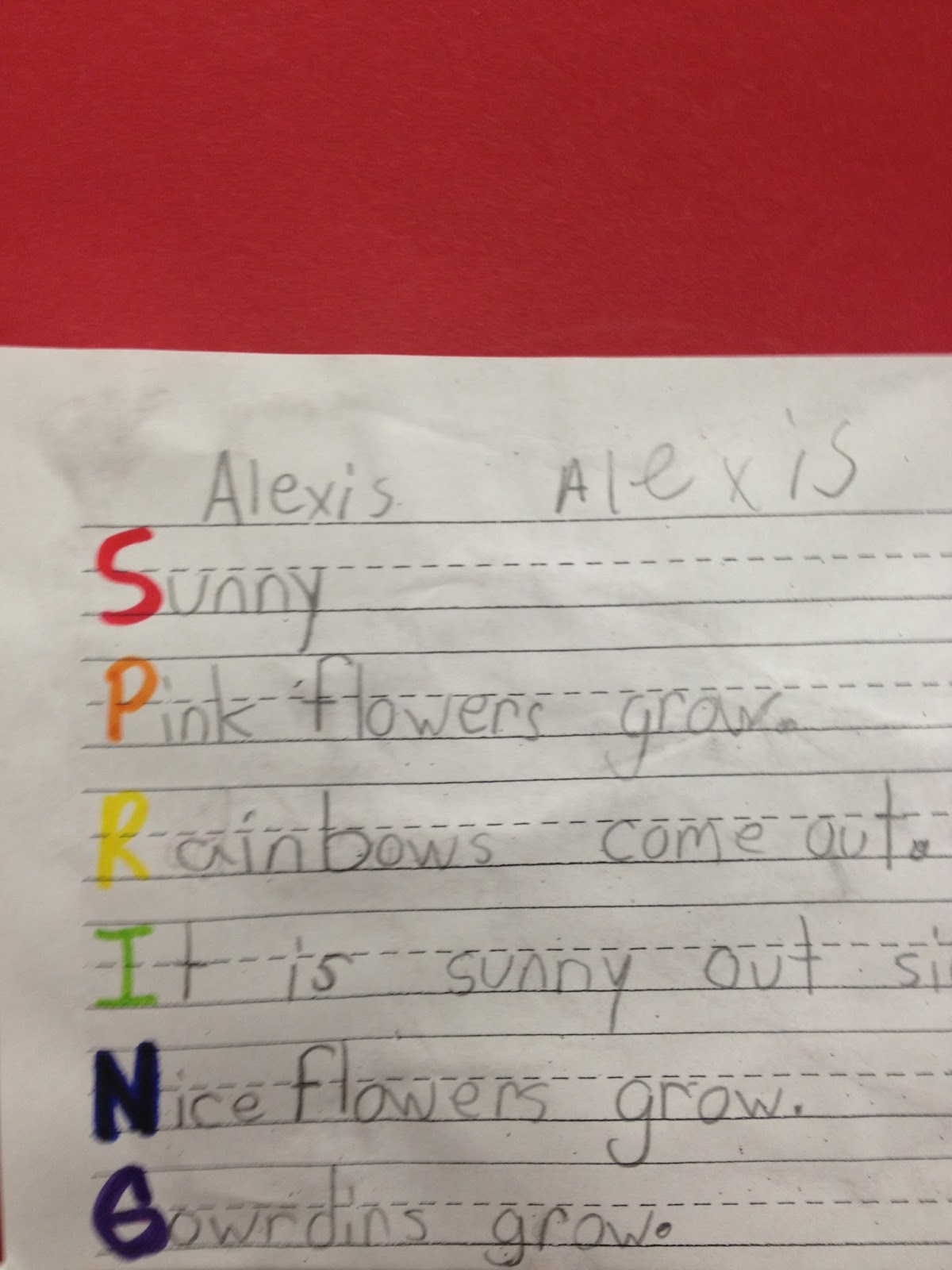 Fantabulous First Grade Fun Spring Poems Using Nouns