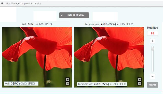 Cara Kompres Gambar JPEG PNG atau Foto Lewat Online