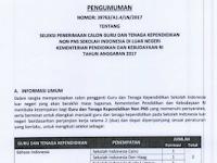 Seleksi Penerimaan Calon Guru dan Tenaga Kependidikan Non PNS SILN 2017