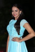 Pujita Ponnada in transparent sky blue dress at Darshakudu pre release ~  Exclusive Celebrities Galleries 076.JPG