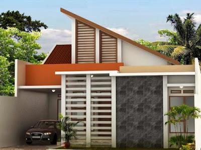jenis atap sandar rumah minimalis sederhana
