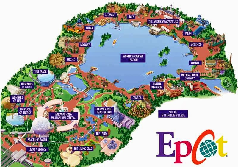 Mapa do Parque Epcot Center da Disney