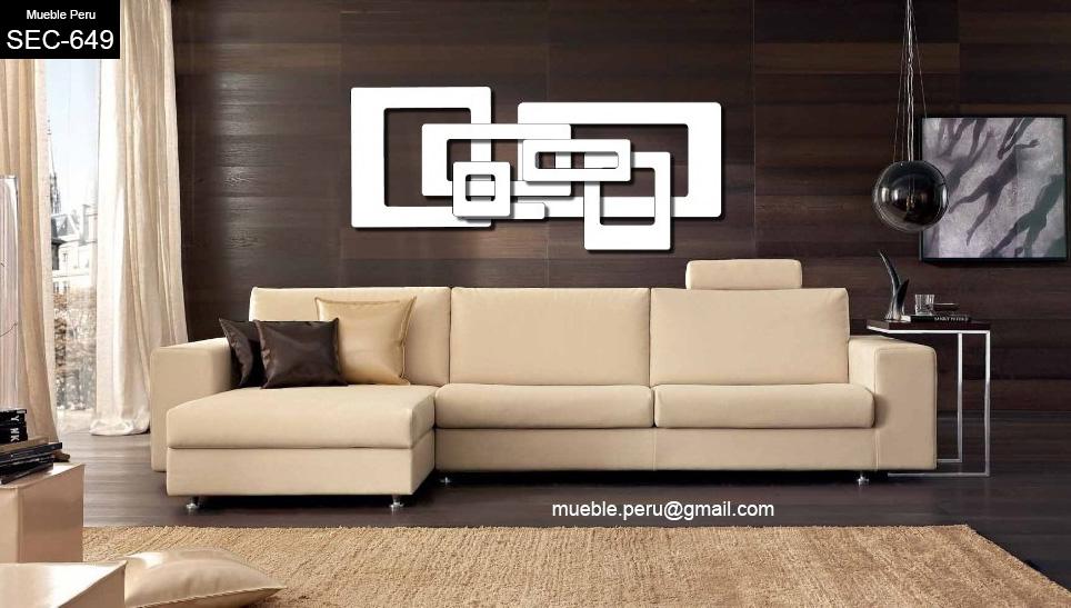 Muebles de sala elegante mueble seccional de dise o - Diseno de muebles de sala ...